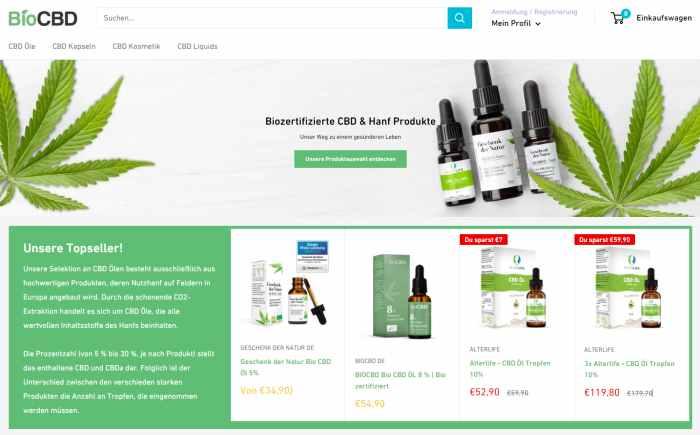 BioCBD CBD Öle und Hanfprodukte