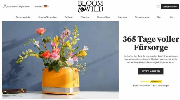 Bloom & Wild Online-Shop