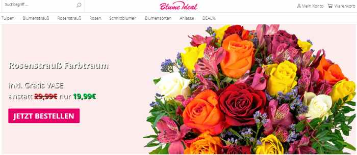 Blume Ideal Onlineshop