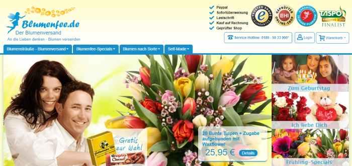 Blumenfee Online-Blumen-Shop