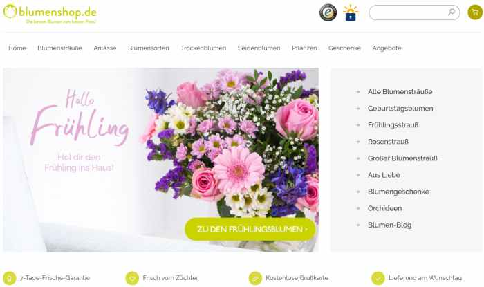 Blumenshop.de Onlineshop