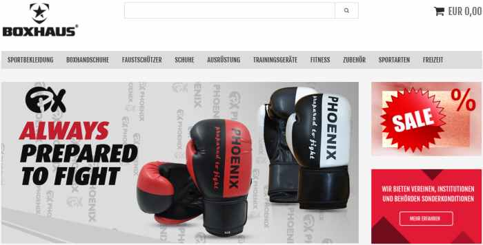 Boxhaus Sportshop für Kampfsport