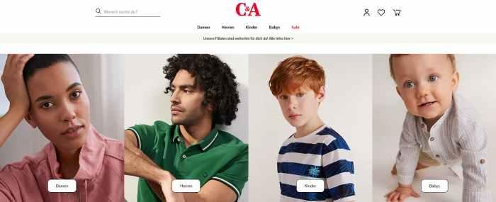 C&A Online-Shop