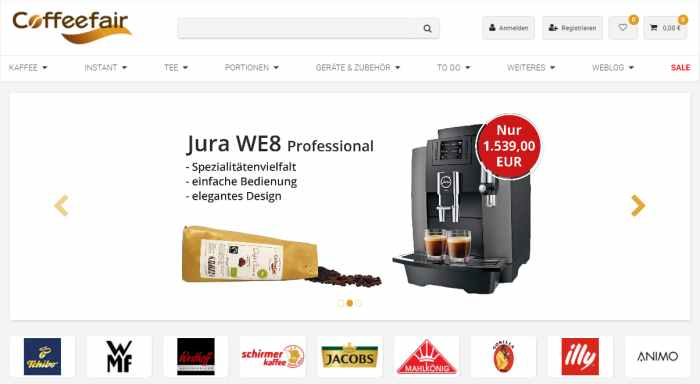 Coffeefair Kaffee und Kaffeemaschinen