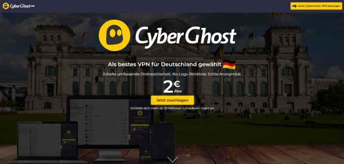 CyberGhost VPN-Dienst
