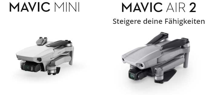 DJI Mavic Mini + Mavic Air 2