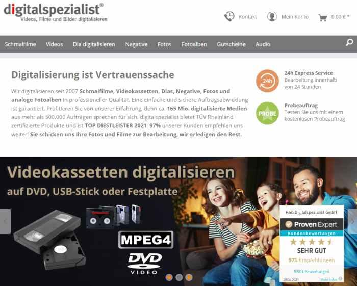 Digitalspezialist - Schmalfilme, Videos und Bilder digitalisieren
