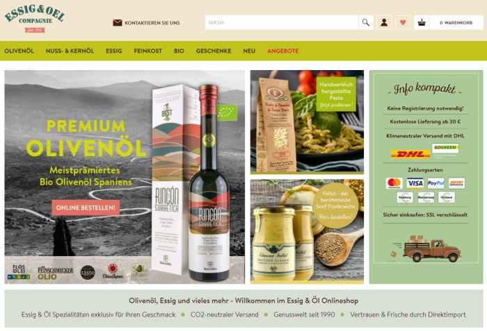 Essig & Öl Onlineshop