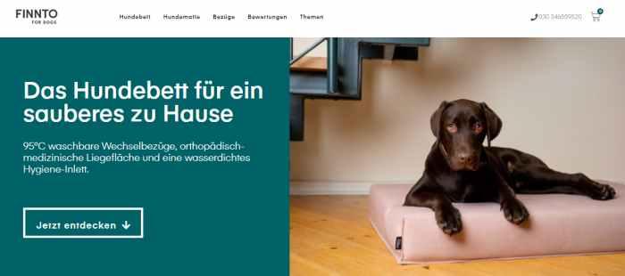 FINNTO Hundebett Shop