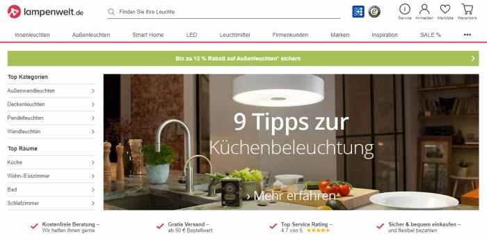 Lampenwelt Onlineshop