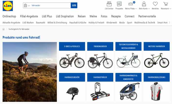 Lidl-Bike Onlineshop