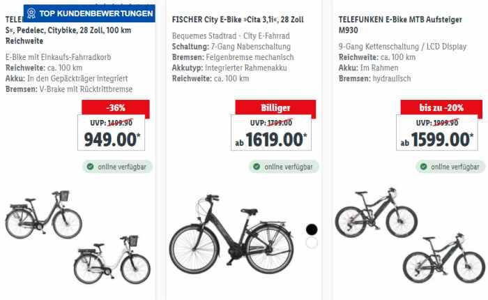 Lidl-Bike Angebote