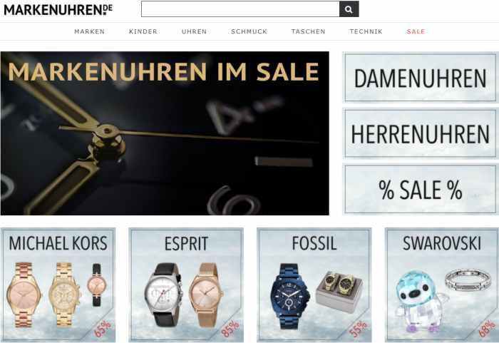 Markenuhren - Armbanduhr online kaufen