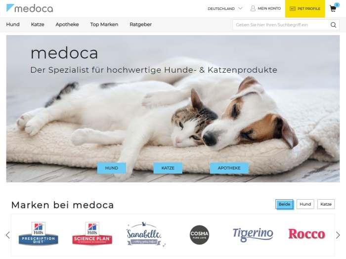 Medoca Webseite