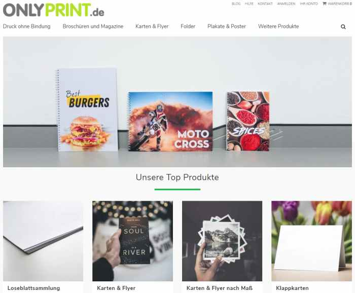 Onlyprint der günstige Online Copyshop