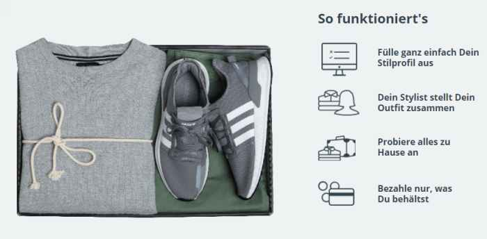 Outfittery Account erstellen