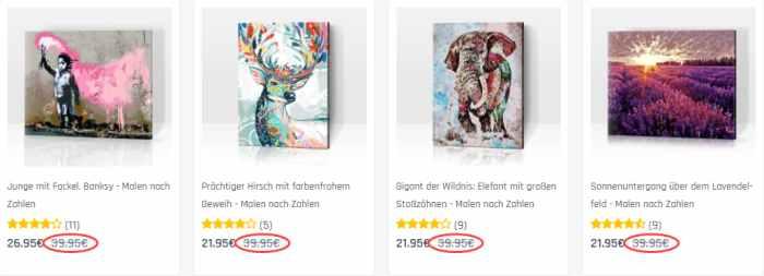 PicArt - Malen nach Zahlen Sale