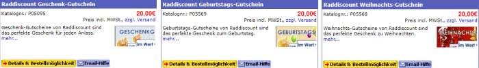 Raddiscount Gutscheine