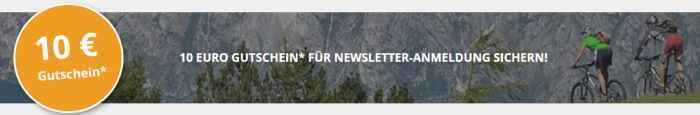 Radwelt-Shop Newsletter Gutschein