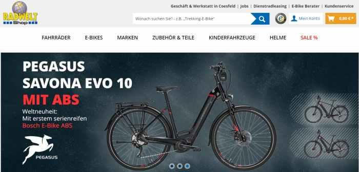 Radwelt-Shop - Fahrrad & E-Bike Online Shop