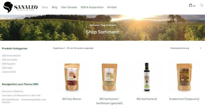 Sanaleo Premium CBD-Produkte aus Hanf