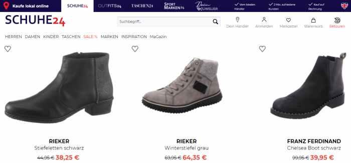 Schuhe24 Sale Spartipps
