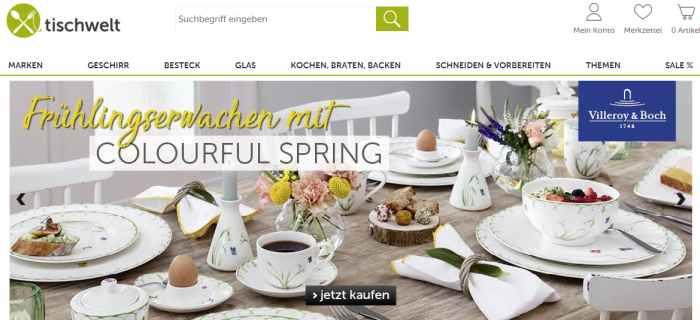 Tischwelt Onlineshop für Küchenutensilien