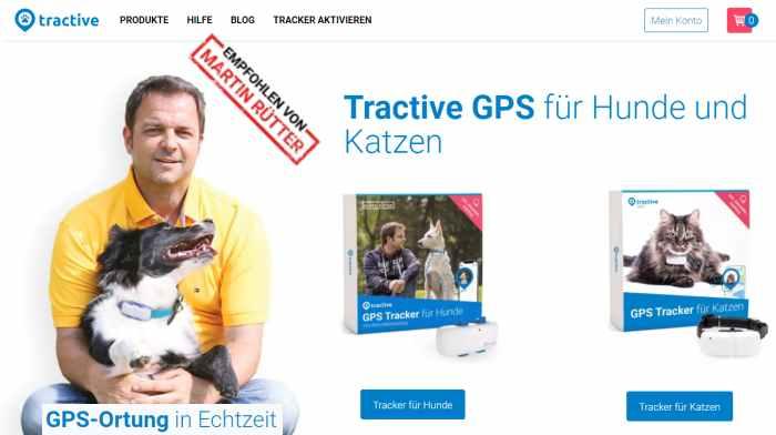 Tractive GPS Tracker für Hund & Katze