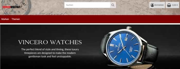 Uhrenvielfalt Uhrenshop
