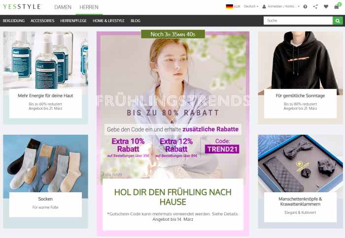 Yesstyle Online-Shop