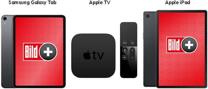 Bildplus mit Tablet oder Apple Tv