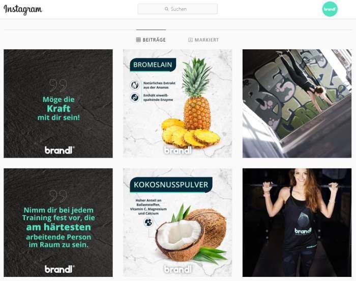 Brandl Nutrition auf Instagram
