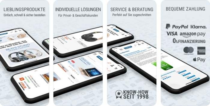 Cyberport App für Apple und Android