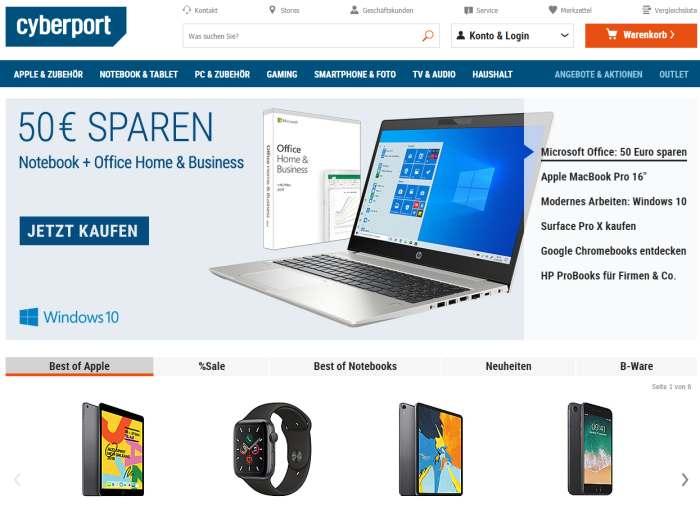 Cyberport Onlineshop