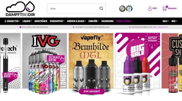 Dampftbeidir Shop Screenshot
