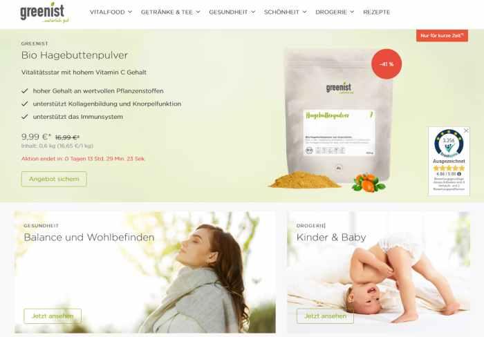 greenist Onlineshop