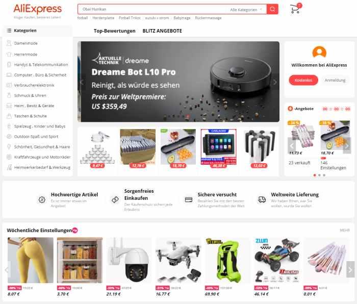 AliExpress China-Onlineshop