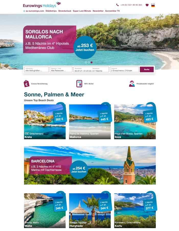 Eurowings Holidays Reisebüro