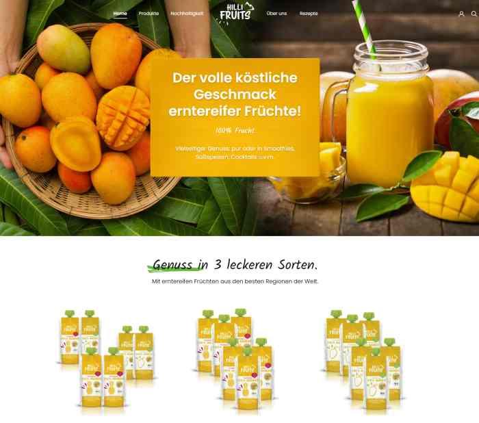 Hilli Fruits Onlineshop