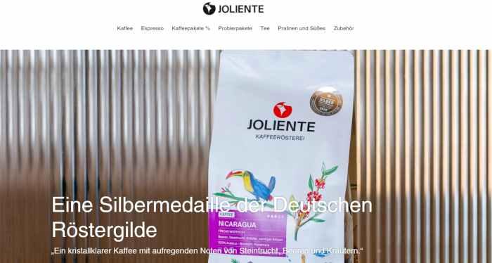Joliente Kaffee Onlineshop