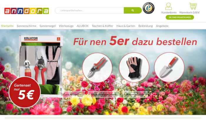 anndora Online-Baumarkt