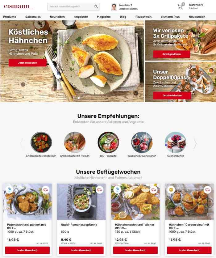 eismann - Lebensmittel online bestellen