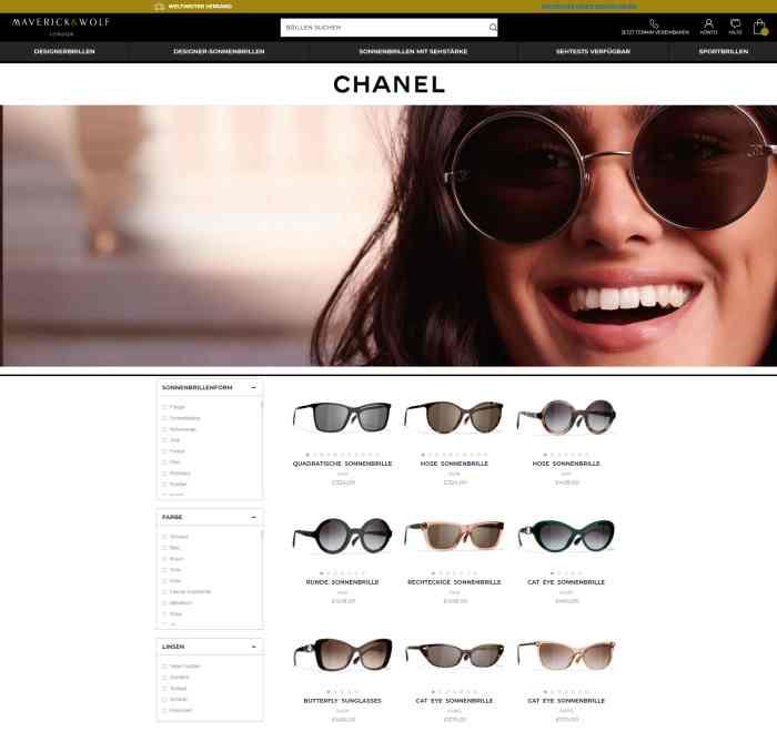 Maverick & Wolf Luxus-Sonnenbrillen Onlineshop