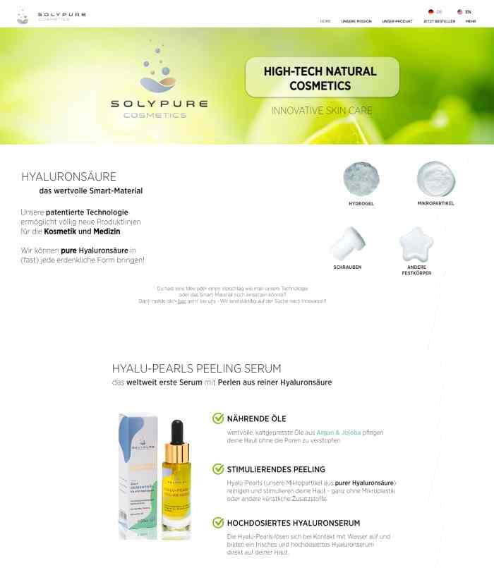 SolyPure Cosmetics Onlineshop