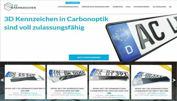 3D Kennzeichen - 3D Kennzeichen vom Patentinhaber