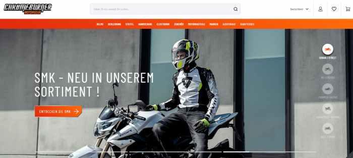 ChromeBurner Motorrad-Shop