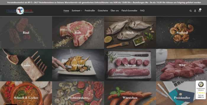 Tellermitte - Onlineshop für Fleisch