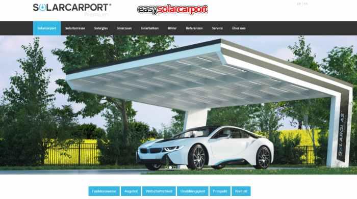 easysolarcarport - Carport Bausatz