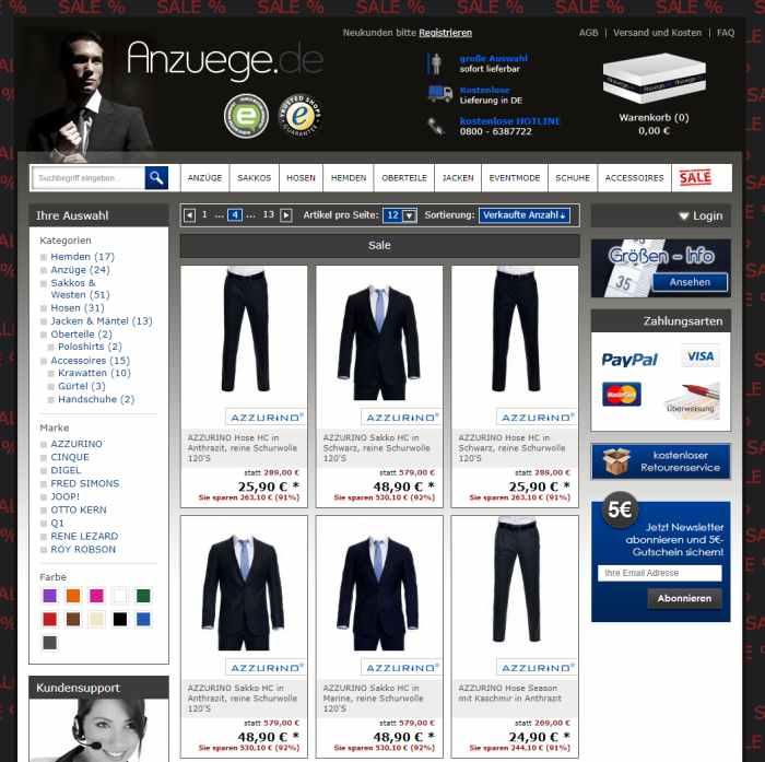 Anzuege.de - Anzüge im Sale