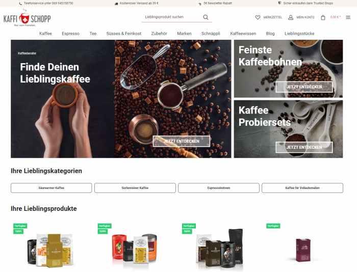 Kaffi Schopp - Kaffespezialitäten und Kaffeemaschinen